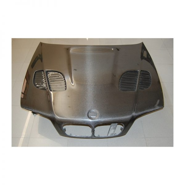 Carbon bonnet BMW E46 2002-2006 2-door LOOK M3 GTR, with air intake