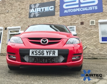 AIRTEC front mount intercooler Upgrade for the MK1 Mazda 3 MPS FMIC