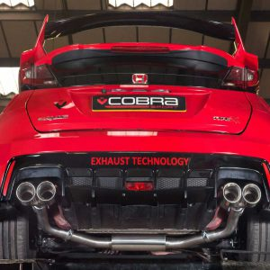 HN21 COBRA EXHAUST Honda Civic Type R FK2 15> Catback System Non RESONATED