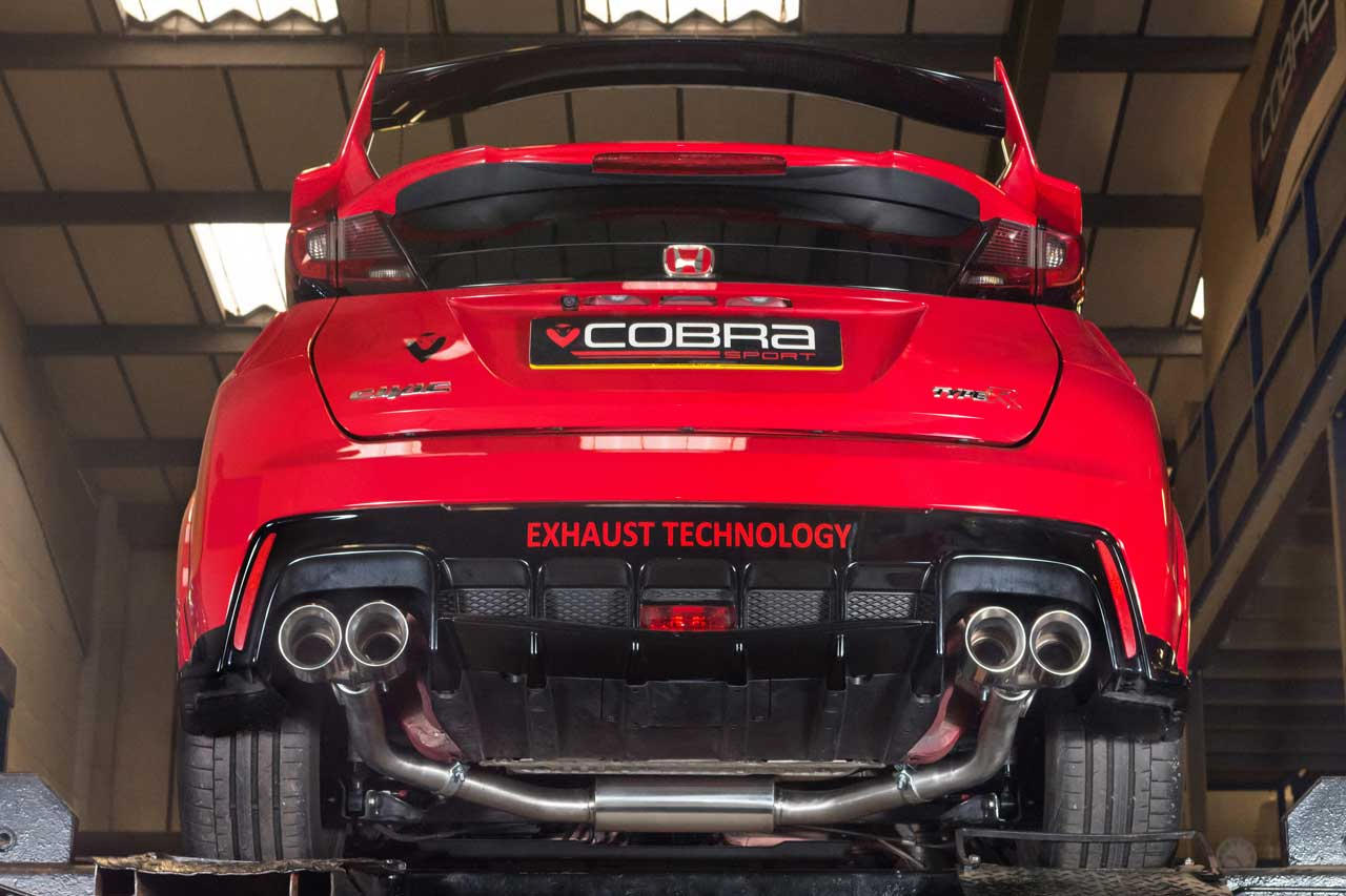 Honda Civic Aftermarket Parts >> Hn21 Cobra Exhaust Honda Civic Type R Fk2 15 Catback System Non Resonated