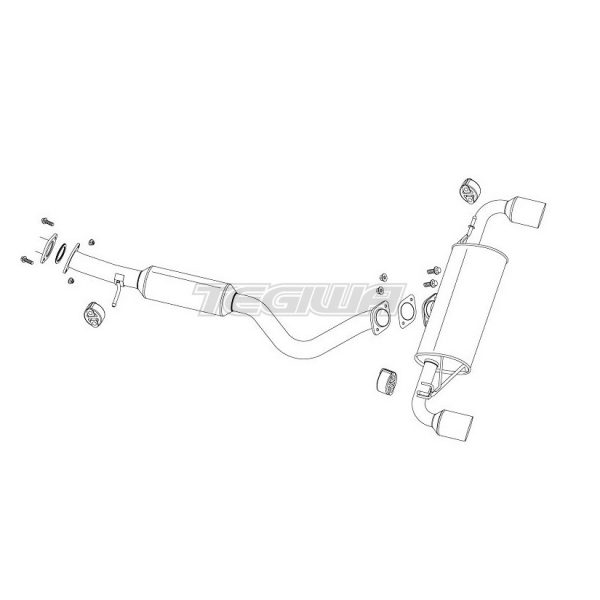 Fujitsubo Authorize R Cat Back Exhaust Toyota Yaris GR 20+